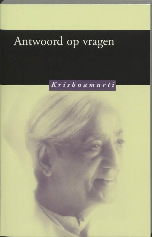 De voorkant van het boek met de titel : Antwoord op vragen
