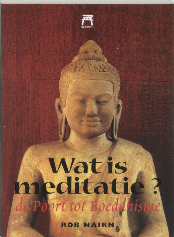 De voorkant van het boek met de titel : Wat is meditatie