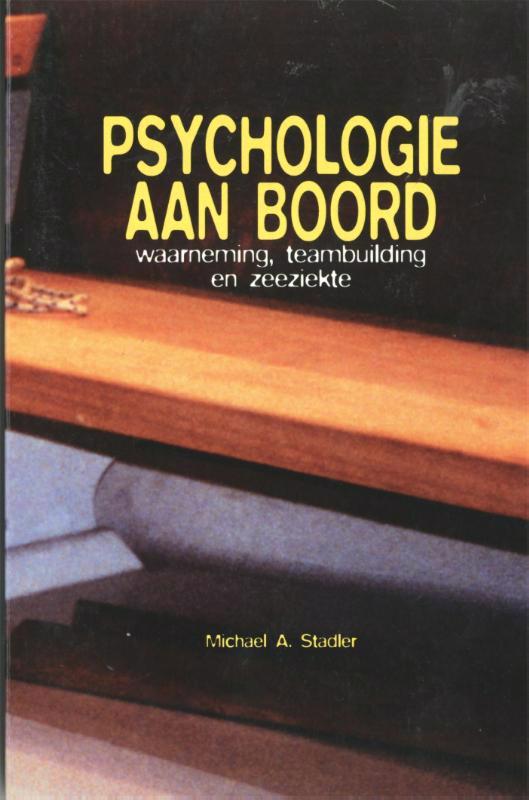 De voorkant van het boek met de titel : Psychologie aan boord