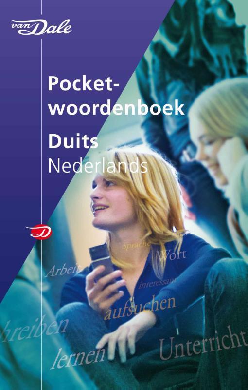 De voorkant van het boek met de titel : Van Dale Pocketwoordenboek Duits-Nederlands