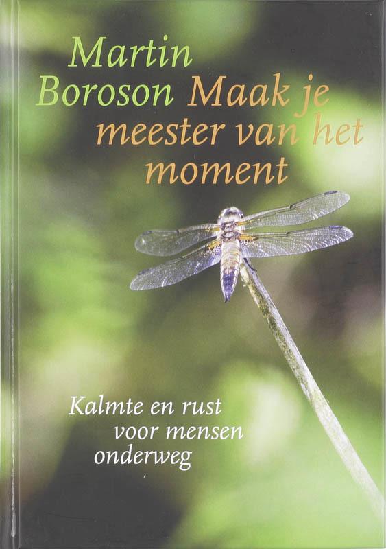 De voorkant van het boek met de titel : Maak je meester van het moment