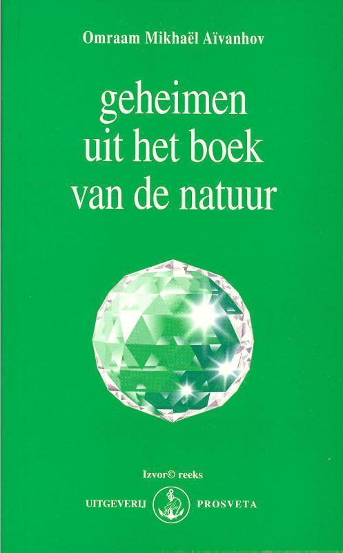 De voorkant van het boek met de titel : Geheimen uit het boek van de natuur