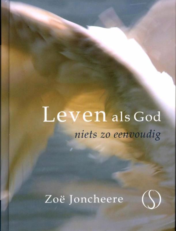 De voorkant van het boek met de titel : Leven als god