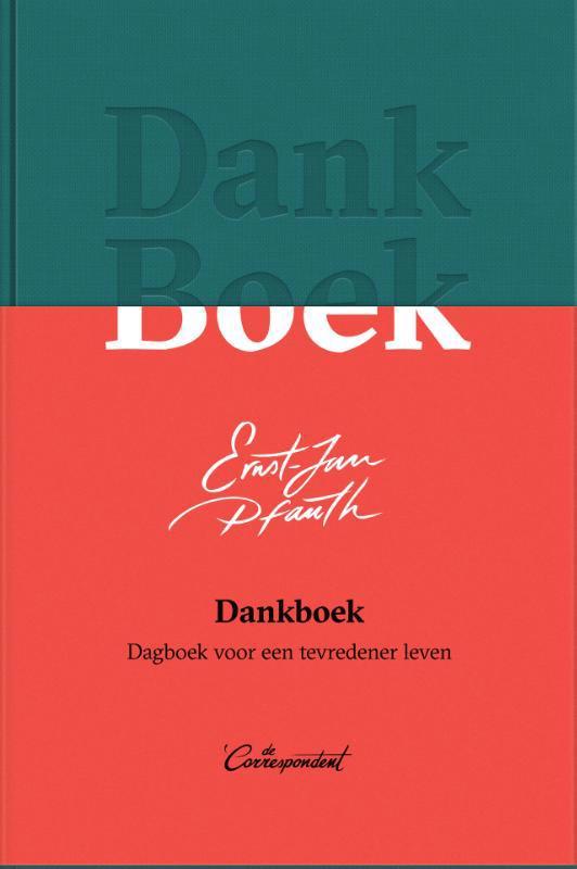 De voorkant van het boek met de titel : Dankboek