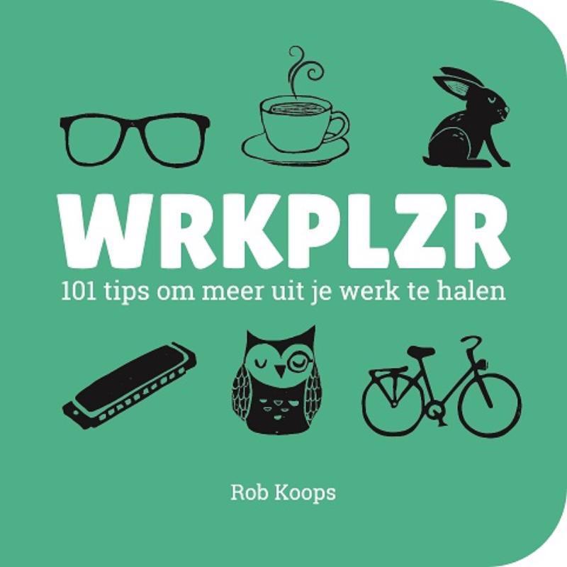 De voorkant van het boek met de titel : WRKPLZR