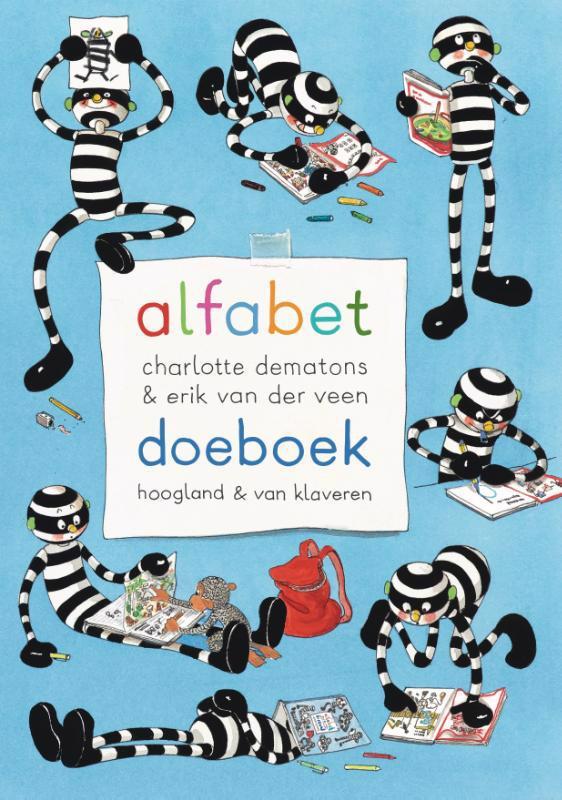 De voorkant van het boek met de titel : Alfabet doeboek