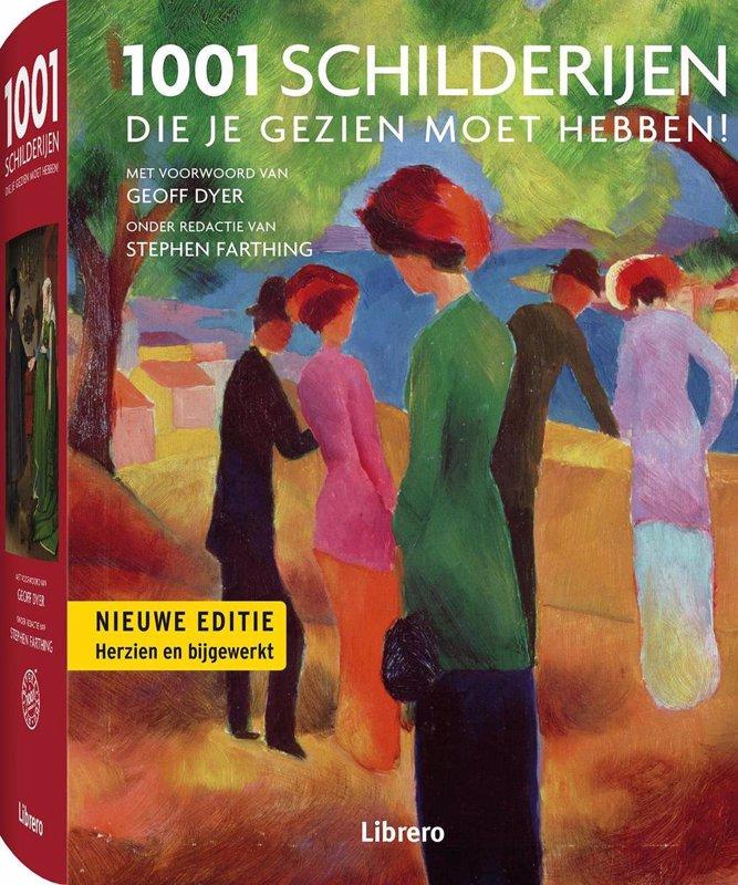 De voorkant van het boek met de titel : 1001 Schilderijen