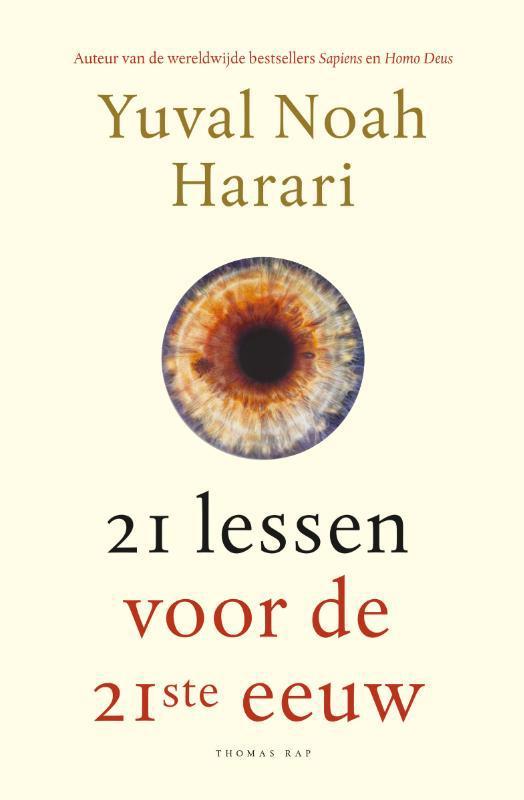 De voorkant van het boek met de titel : 21 lessen voor de 21ste eeuw