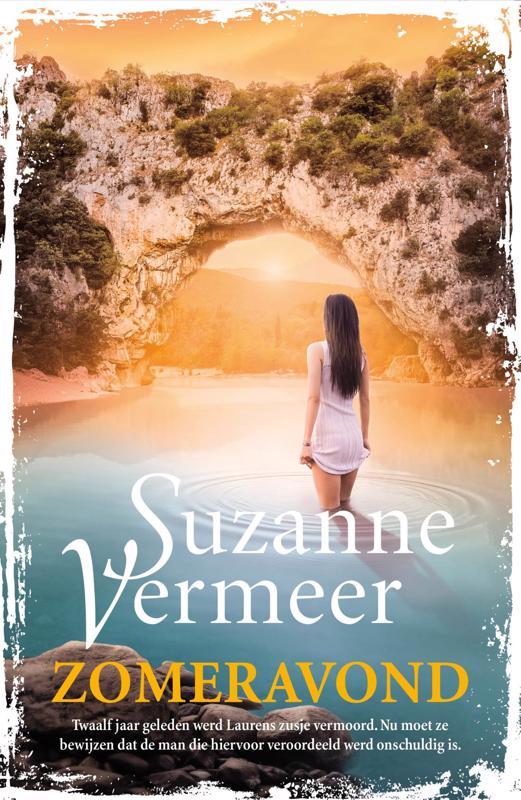 De voorkant van het boek met de titel : Zomeravond