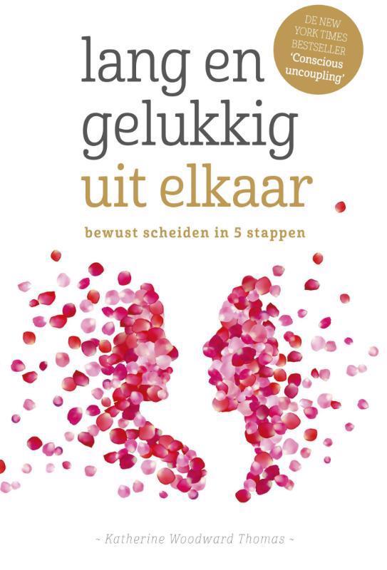 De voorkant van het boek met de titel : Lang en gelukkig uit elkaar