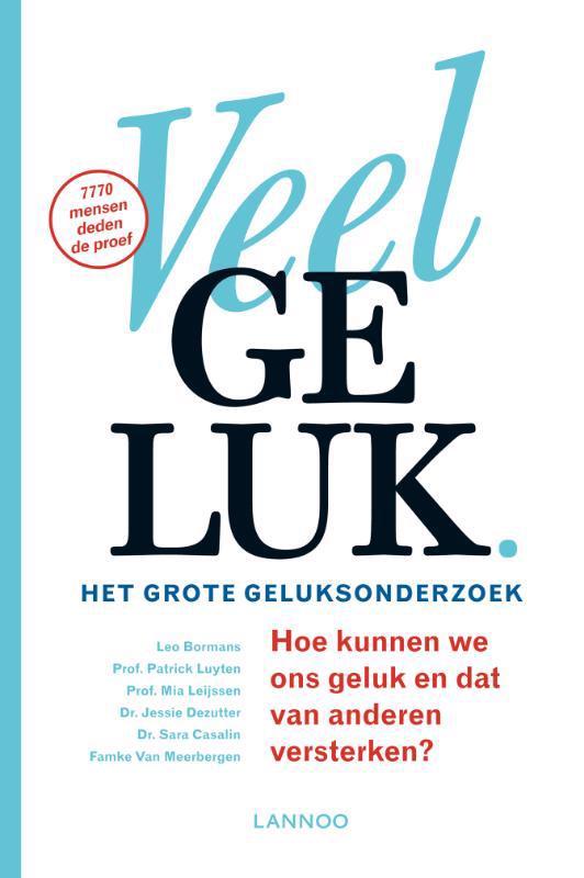 De voorkant van het boek met de titel : Veel geluk