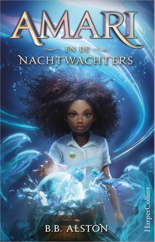 De voorkant van het boek met de titel : Amari en de Nachtwachters