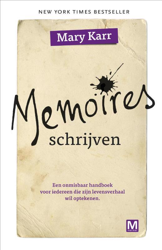 De voorkant van het boek met de titel : Memoires schrijven