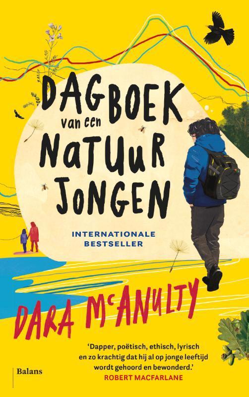 De voorkant van het boek met de titel : Dagboek van een natuurjongen