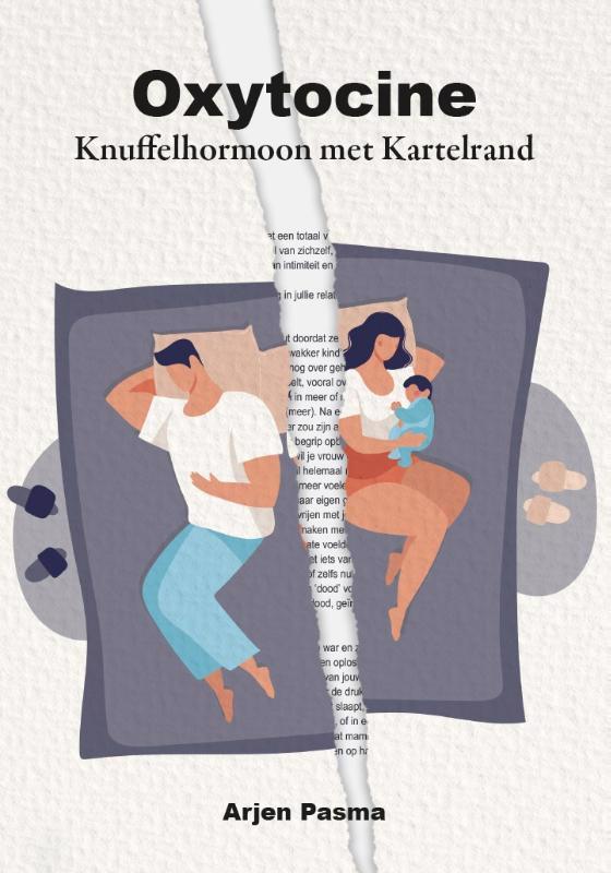 De voorkant van het boek met de titel : Oxytocine