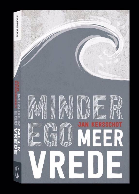 De voorkant van het boek met de titel : Minder ego, meer vrede