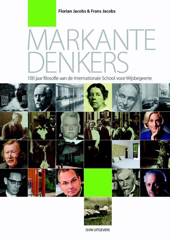 De voorkant van het boek met de titel : Markante denkers