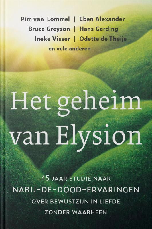 De voorkant van het boek met de titel : Het geheim van Elysion