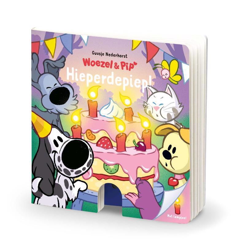 De voorkant van het boek met de titel : Hieperdepiep!
