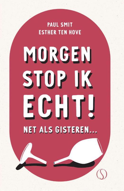 De voorkant van het boek met de titel : Morgen stop ik echt!