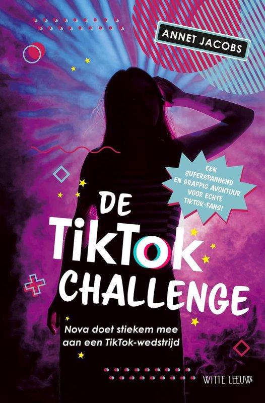 De voorkant van het boek met de titel : De TikTok Challenge